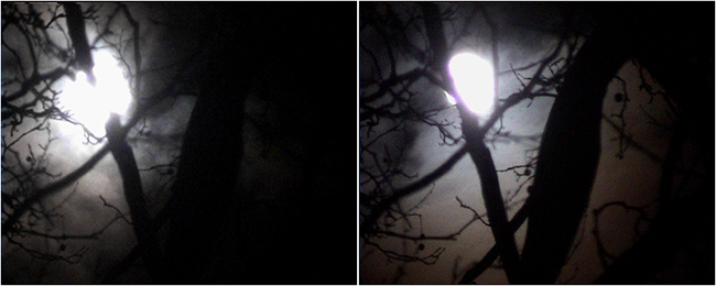 LA LUNA, (two stills from) digital video, 2002